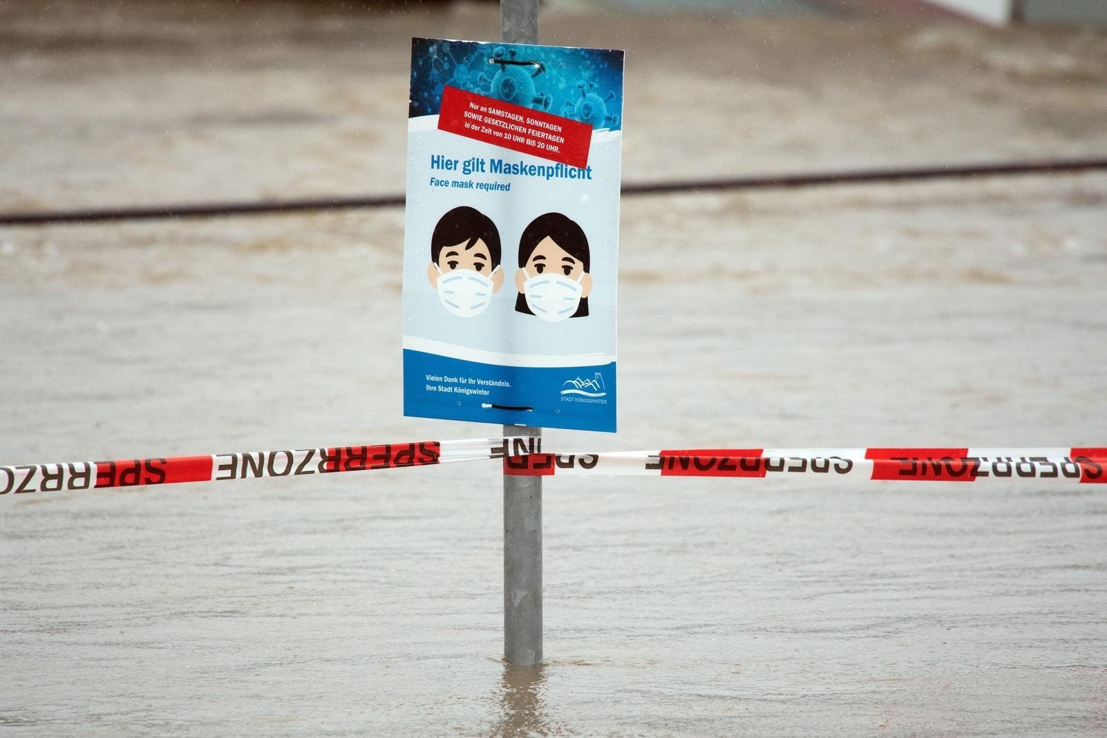 Rhein-Hochwasser in Königswinter