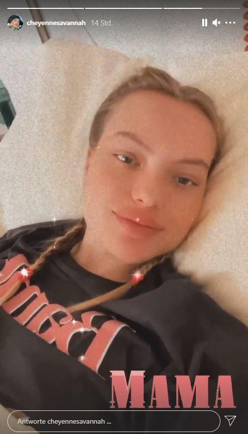 Cheyenne Ochsenknecht nach Geburt Instagram-Story