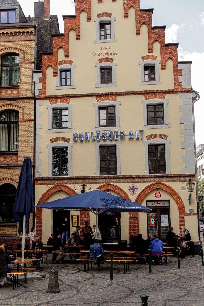 Düsseldorf Altstadt 21. Mai Außengastronomie