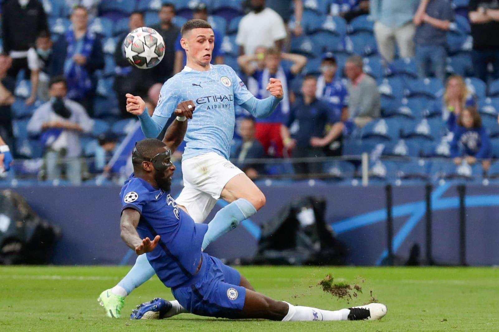 Manchester City - FC Chelsea Foden Rüdiger