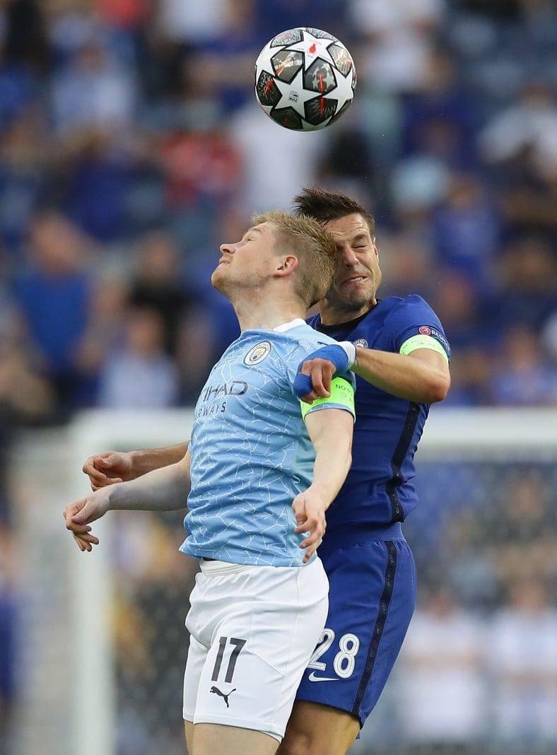 Manchester City - FC Chelsea Kevin De Bruyne Cesar Azpilicueta