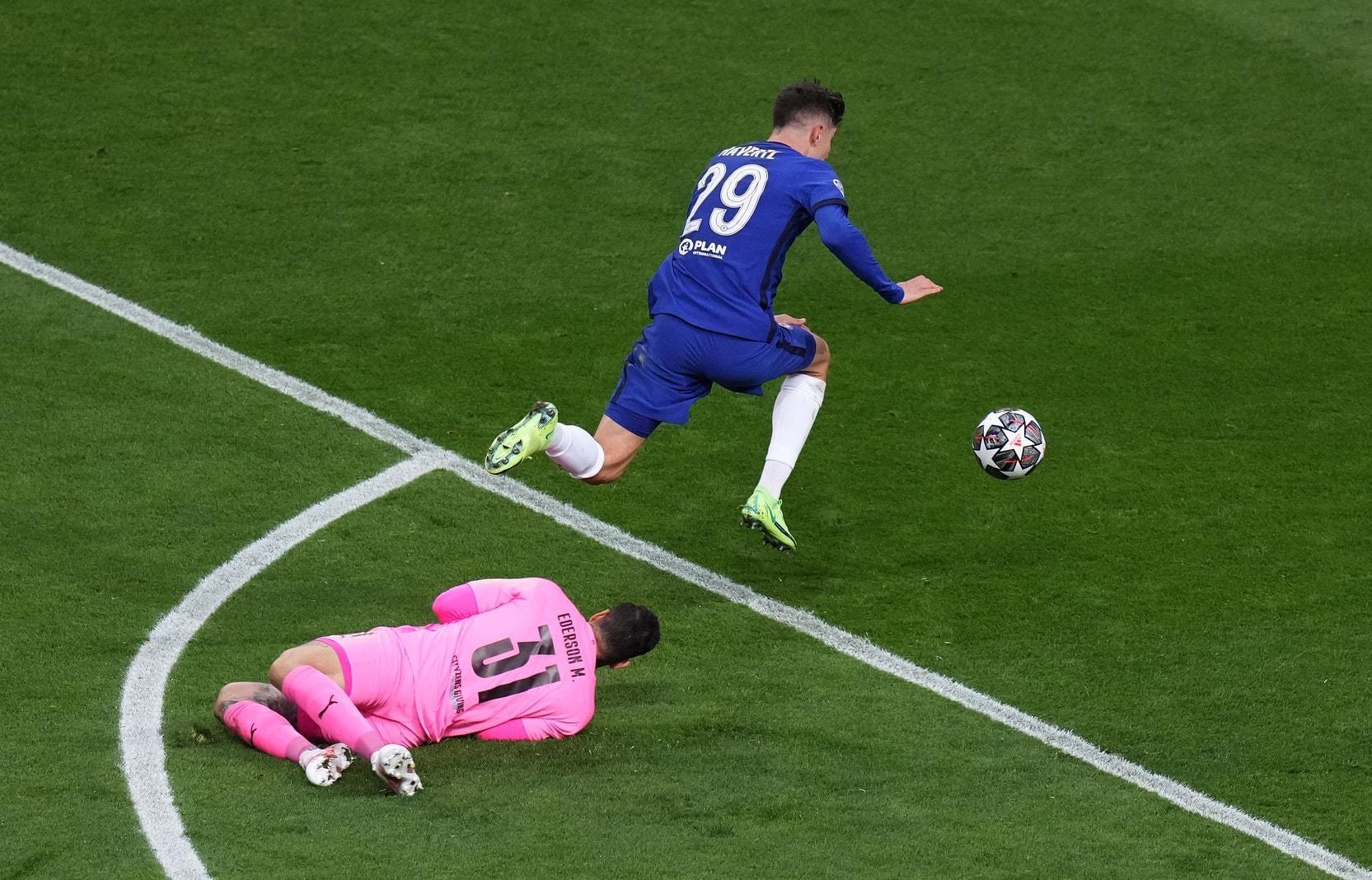 Manchester City - FC Chelsea Havertz Tor