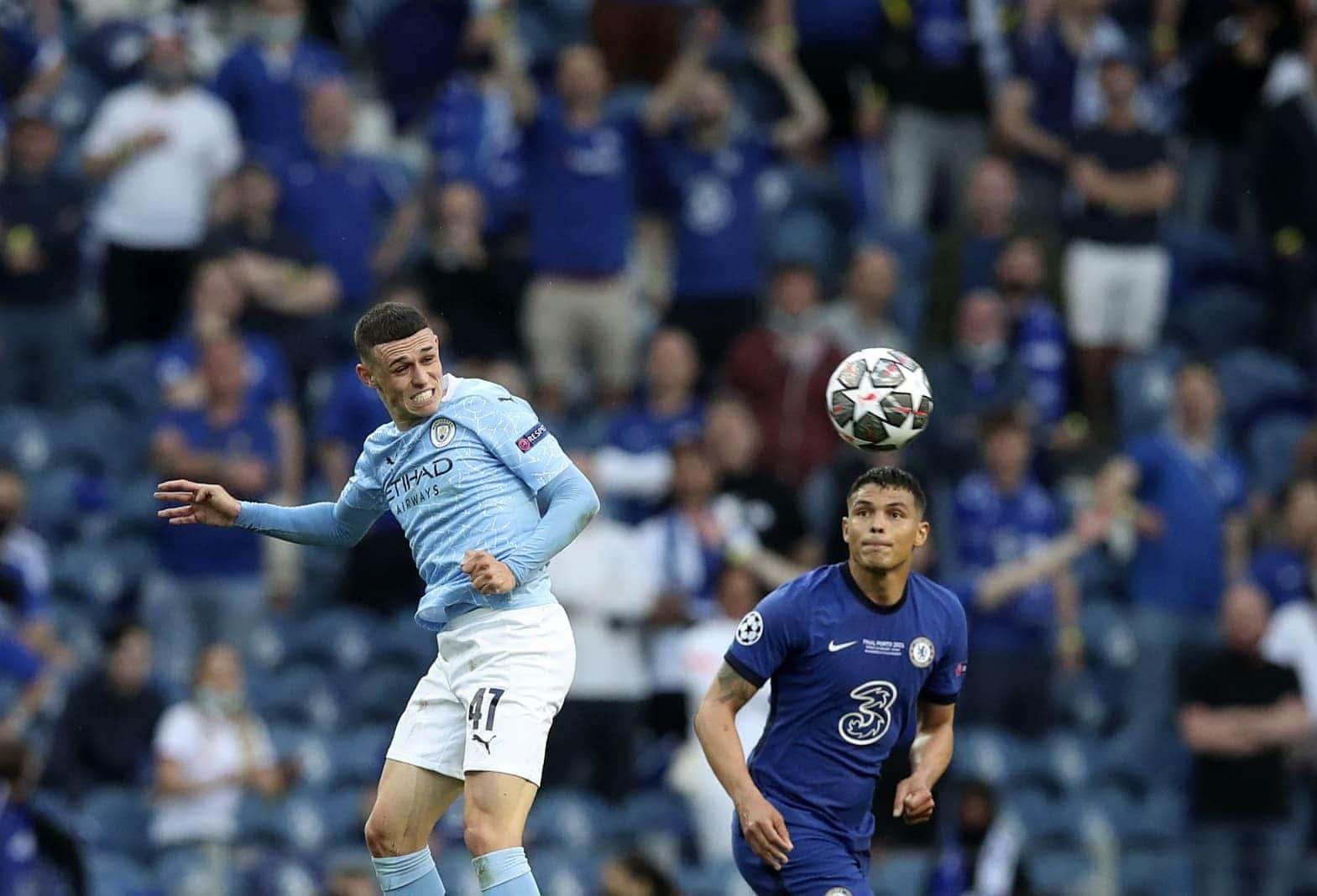 Manchester City - FC Chelsea Phil Foden Thiago Silva