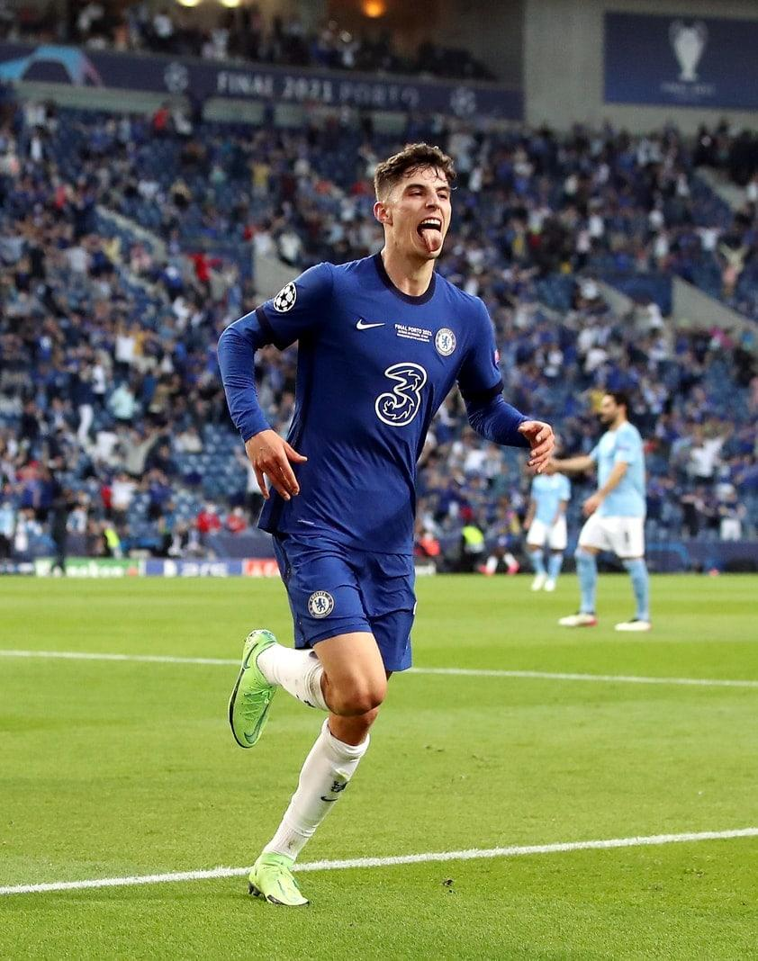 Manchester City - FC Chelsea Kai Havertz Zunge