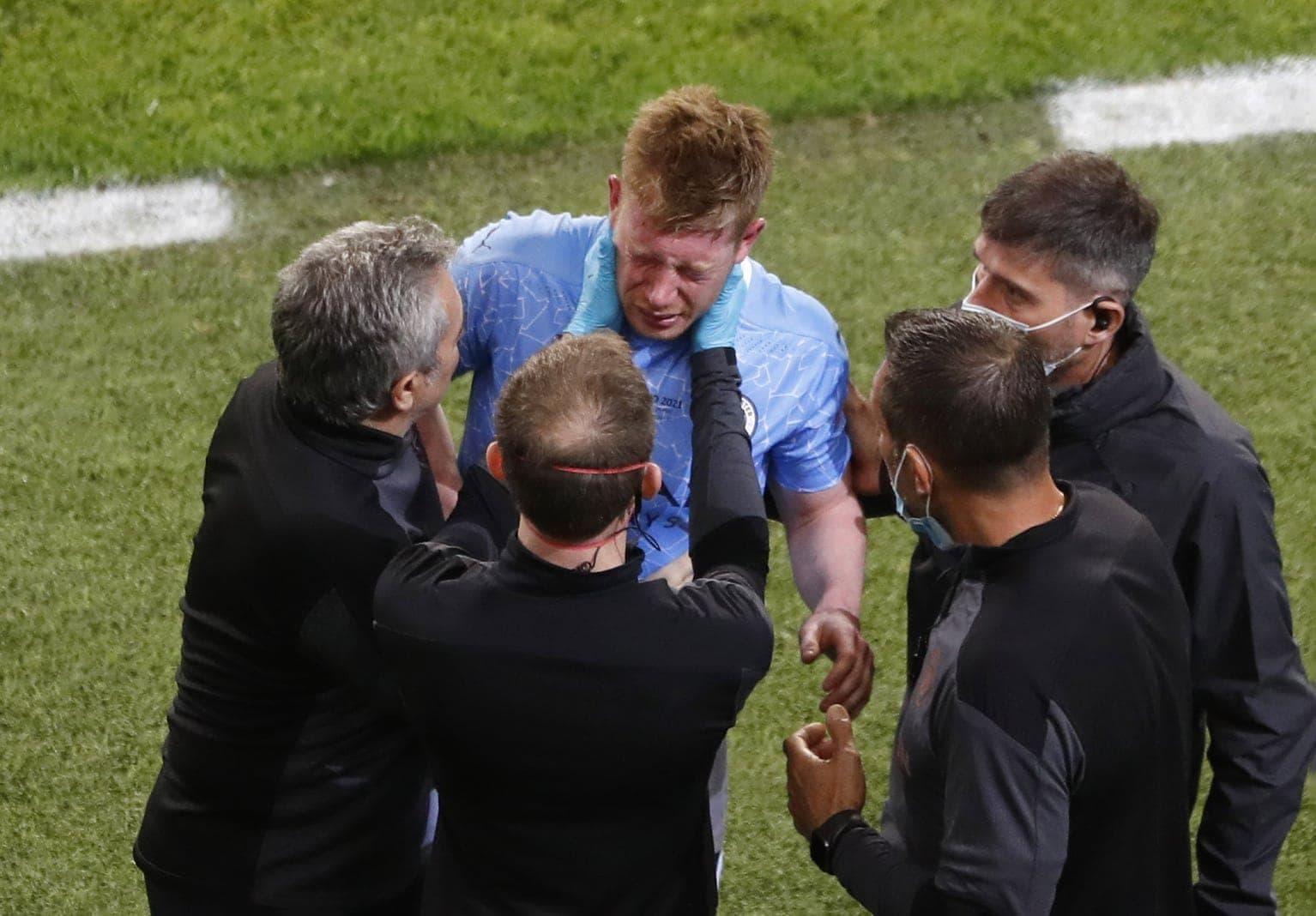 Manchester City - FC Chelsea Kevin De Bruyne Schmerzen