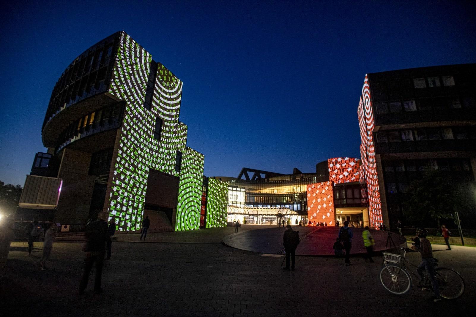 Landtag NRW Düsseldorf Lichtshow 2
