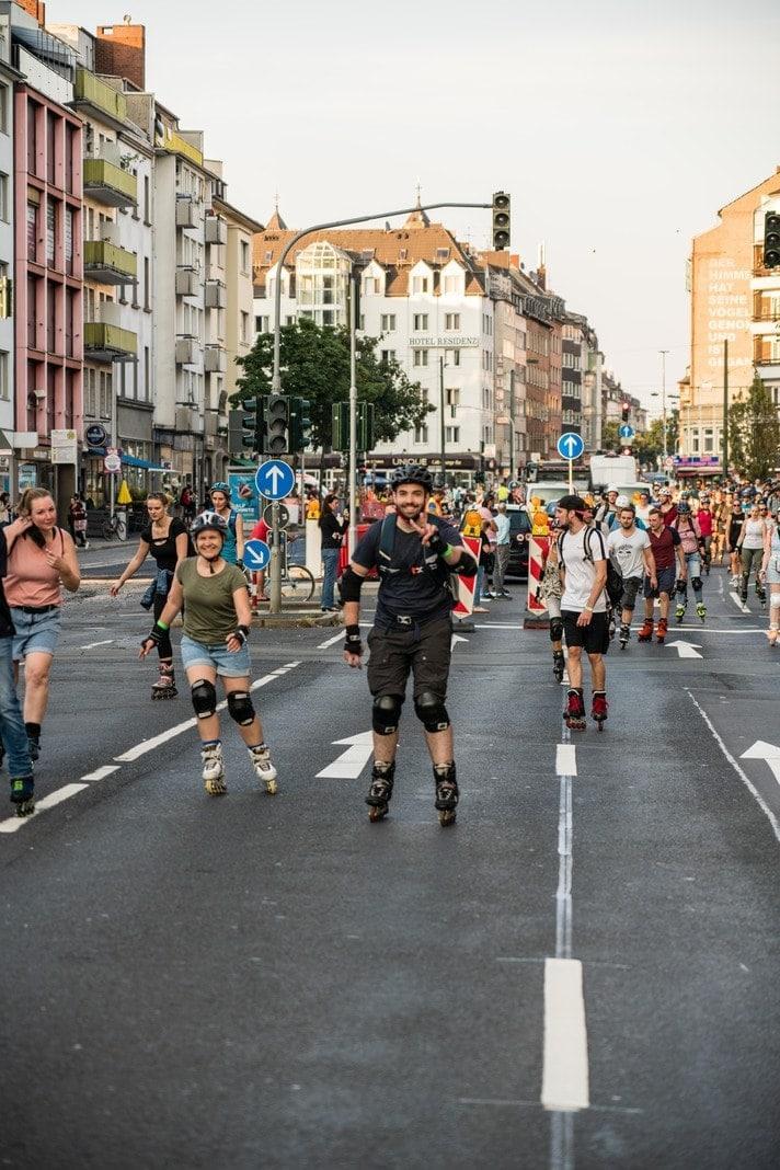 Rollnacht Düsseldorf zum Areal Böhler am 5. September 2021