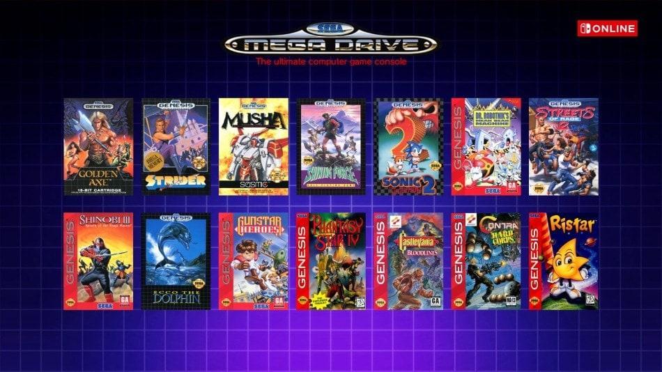 Nintendo Switch Mega Drive Games