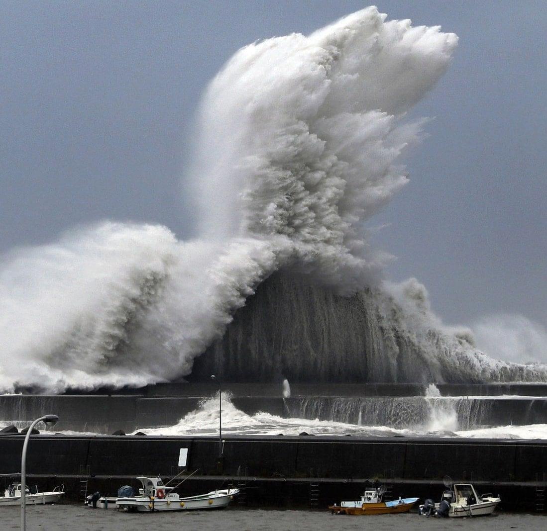 """<p>""""Jebi"""" erreichte zunächst die Provinz Tokushima auf Japans kleinster Hauptinsel Shikoku"""