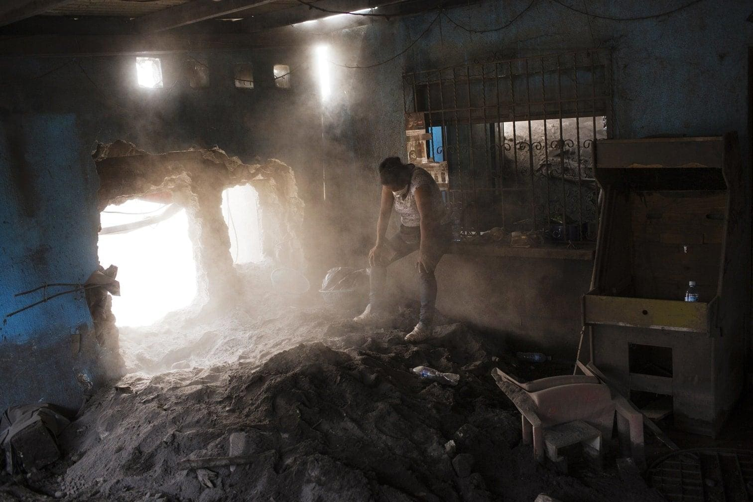 <p>Am 3. Juni entfaltete der Feuervulkan seine volle Kraft. Dörfer wurden unter Lawinen aus Lava