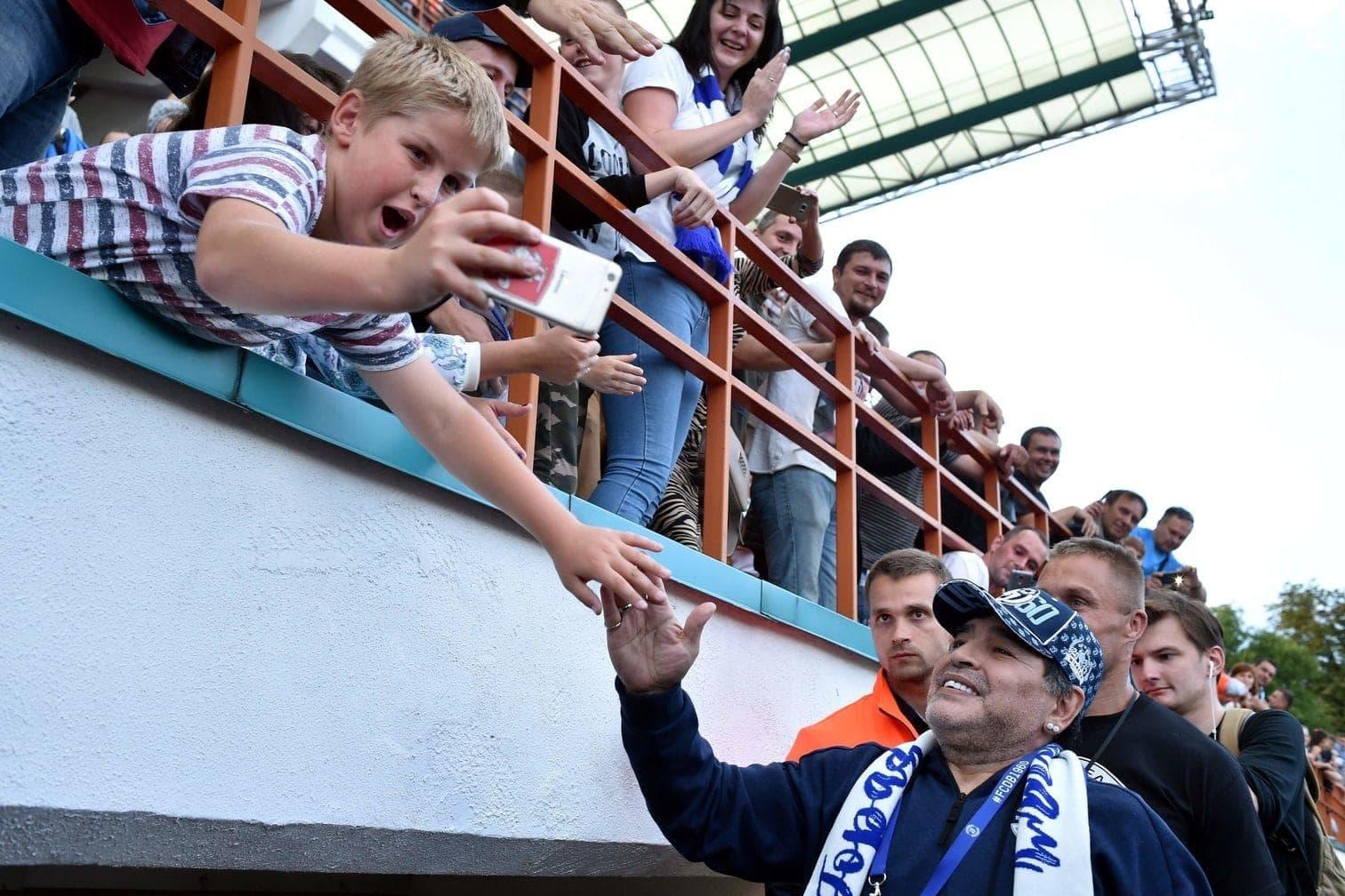 <p>Da machte sogar Maradona große Augen.</p> Foto: AFP