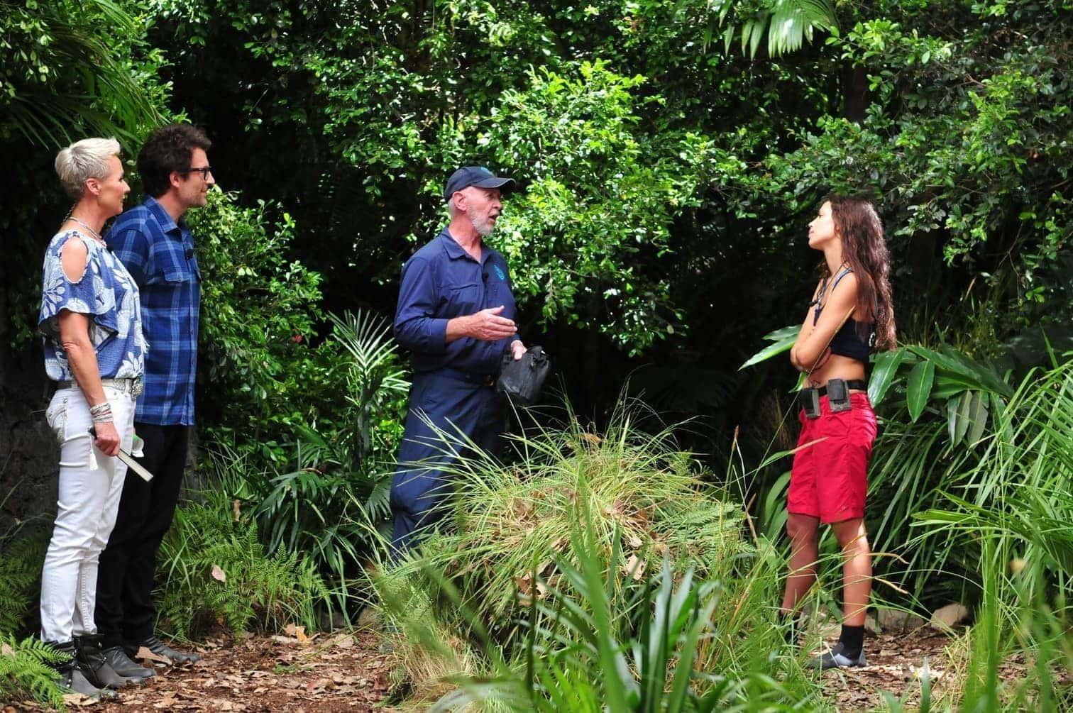 """<p>Am siebten Tag muss Gisele zu ihrer achten Dschungelprüfung antreten (am ersten Tag gab es zwei Prüfungen) und zieht mit """"Dschungelprüfungs-Rekordhalterin in Serie"""" Larissa Marolt gleich.</p> Foto: TV NOW / Stefan Menne"""