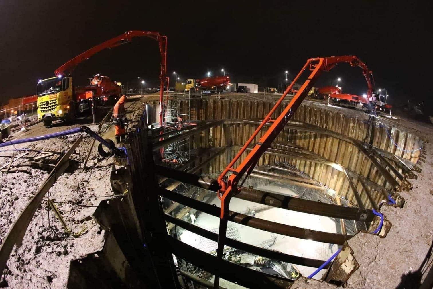 <p>Die Bauarbeiten haben bereits begonnen...</p> Foto: Deepspot