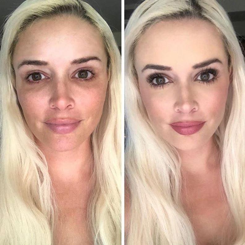 <p>Ein stark geschminktes Gesicht ist eines der Markenzeichen von Reality-TV-Star Daniela Katzenberger. Ob privat oder in der Öffentlichkeit: Ohne ihren Make-up-Look ist der Promi selten zu sehen.Manchmal wagt sie es dennoch