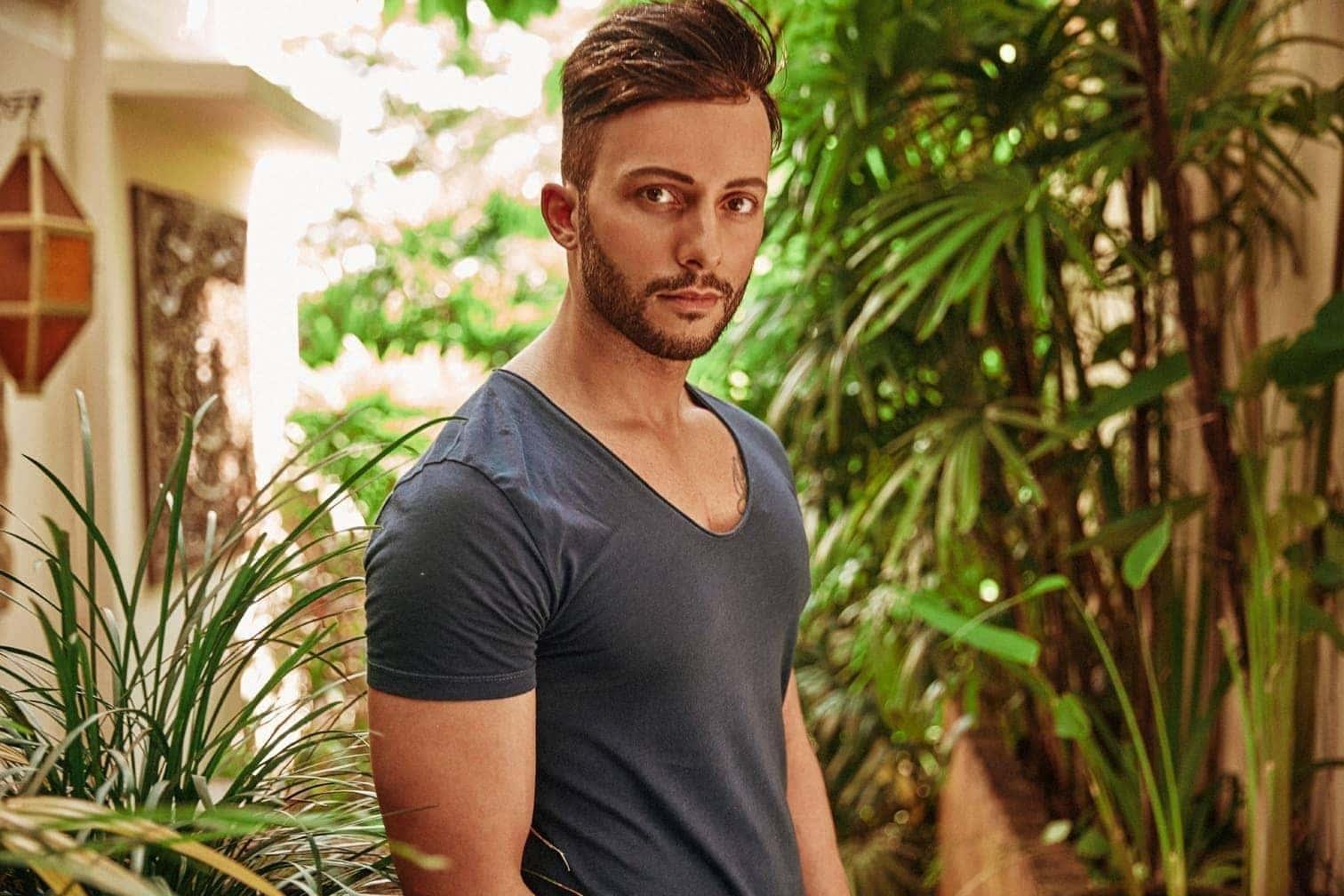 """<p>Sebastian (Bachelorette-Kandidat 2017): """"Verknallen? Kann ich mich grundsätzlich überall - im Paradies sicher beschleunigt""""</p> Foto: MG RTL D / Arya Shirazi"""