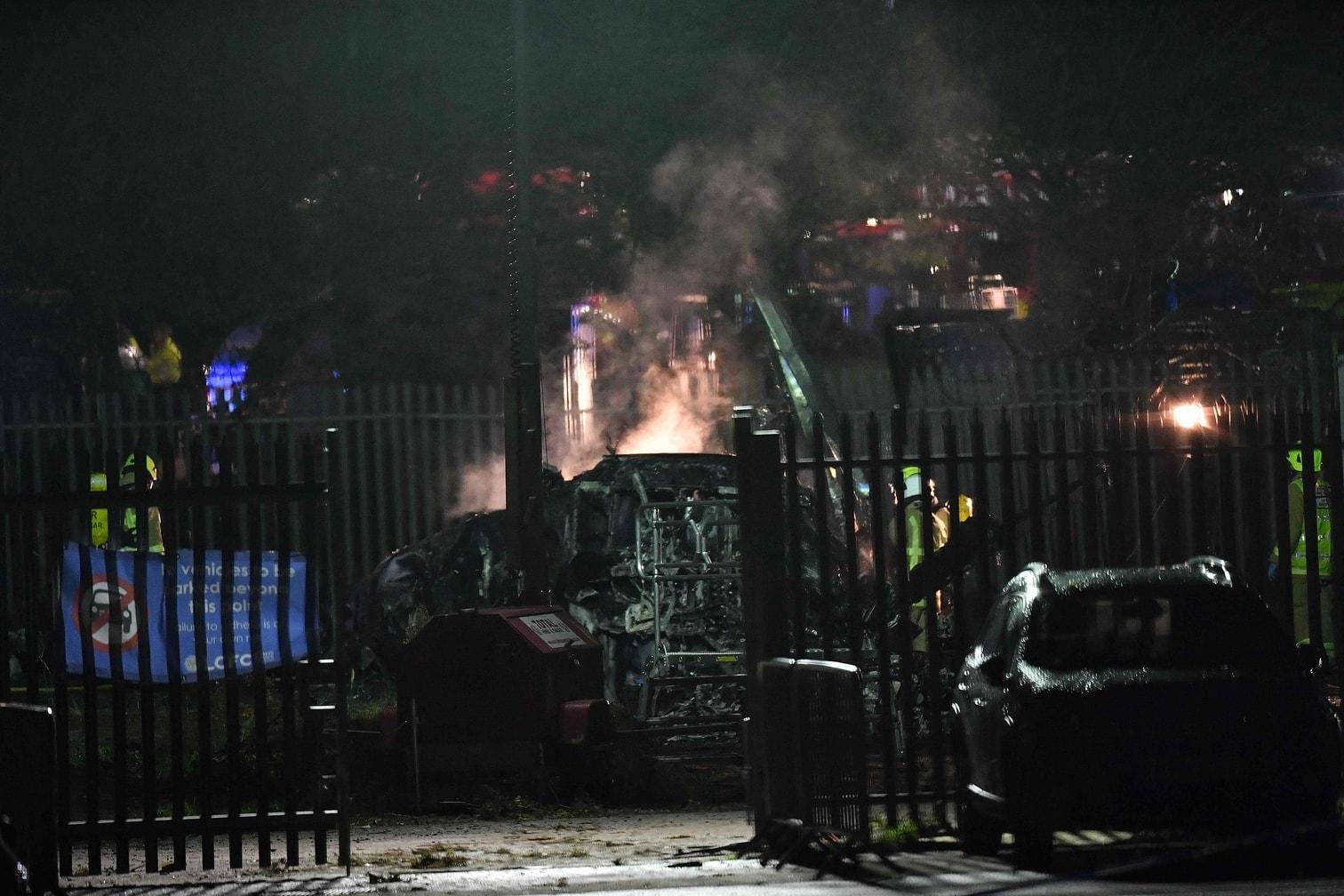 <p>Ein Hubschrauber des Besitzers des britischen Fußballclubs Leicester ist abgestürzt.</p> Foto: AFP/Ben Stansall