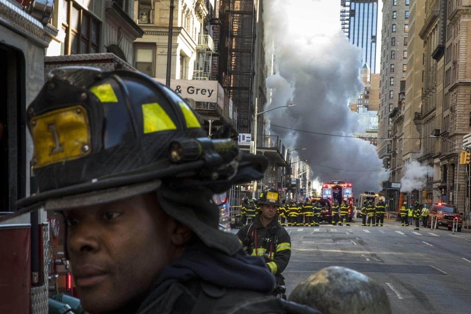 was im morgendlichen Berufsverkehr zu langen Staus führte.</p> Foto: AFP