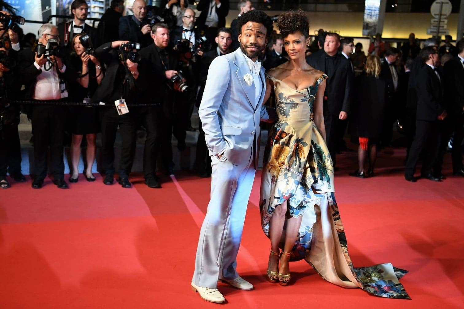 <p>Donald Glover (l.) und Thandie Newton</p> Foto: AFP