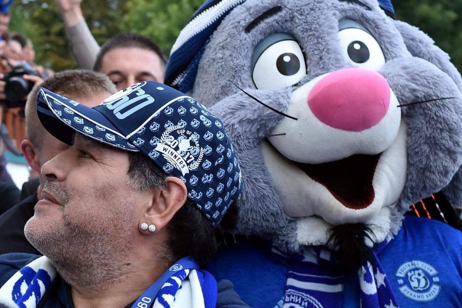 """dass der Fußball im Land durch seine Anwesenheit """"jeden Tag besser"""" wird.</p> Foto: AFP"""