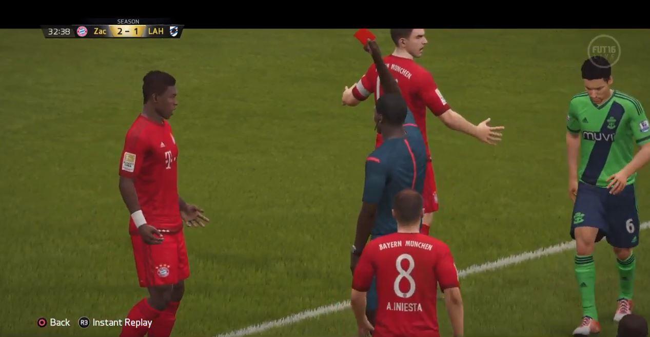 <p>Im ursprünglichen Video zu sehen: David Alaba spielt klar den Ball.</p> Foto: Screenshot Youtube