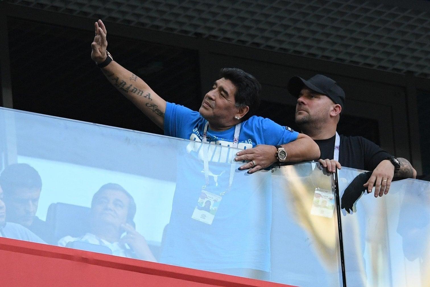 <p>Auch bei der WM 1994 kam es zu einem positiven Dopingtest bei Maradona.</p> Foto: AFP