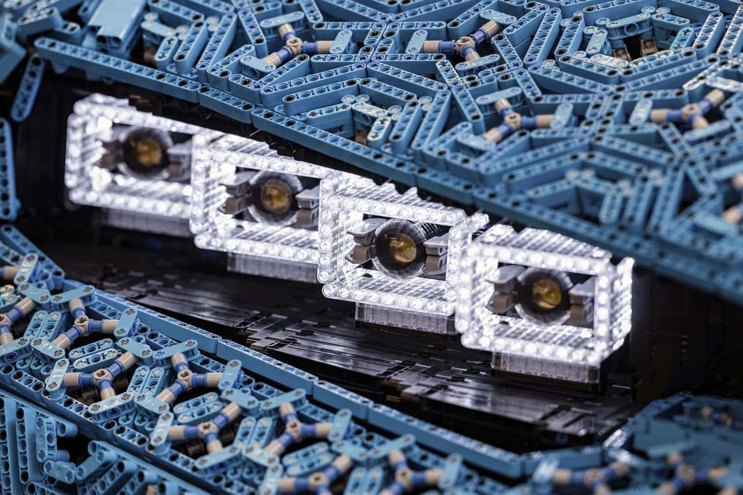 <p>Damit erreicht der&nbsp;Bugatti Chiron eine Höchstgeschwindigkeit von 20 km/h.</p> Foto: The LEGO Group