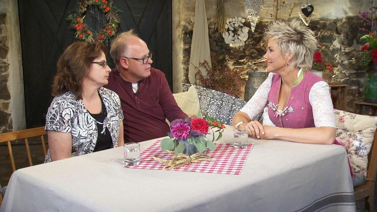 als sie gemeinsam mit Schweinebauer Claus und Moderatorin Inka Bause...</p> Foto: MG RTL D