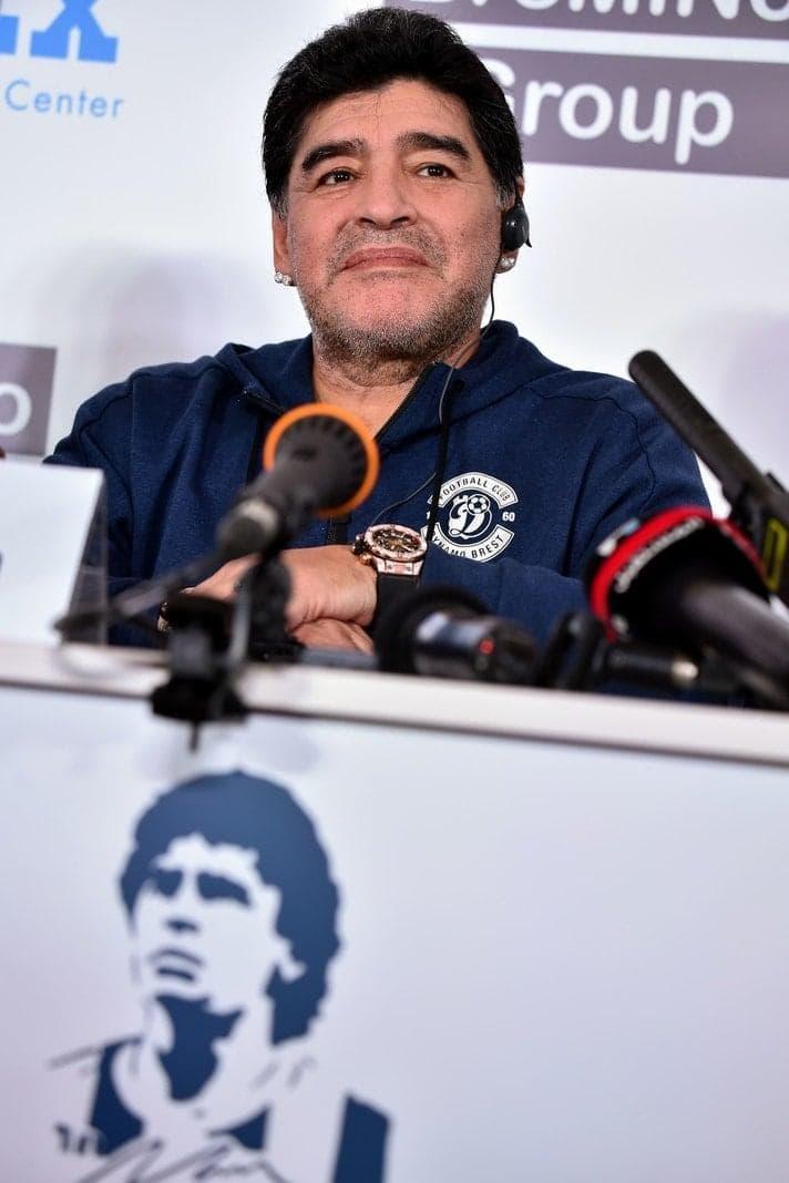 <p>Maradona fungiert künftig als Präsident des weißrussischen Klubs.&nbsp;</p> Foto: AFP