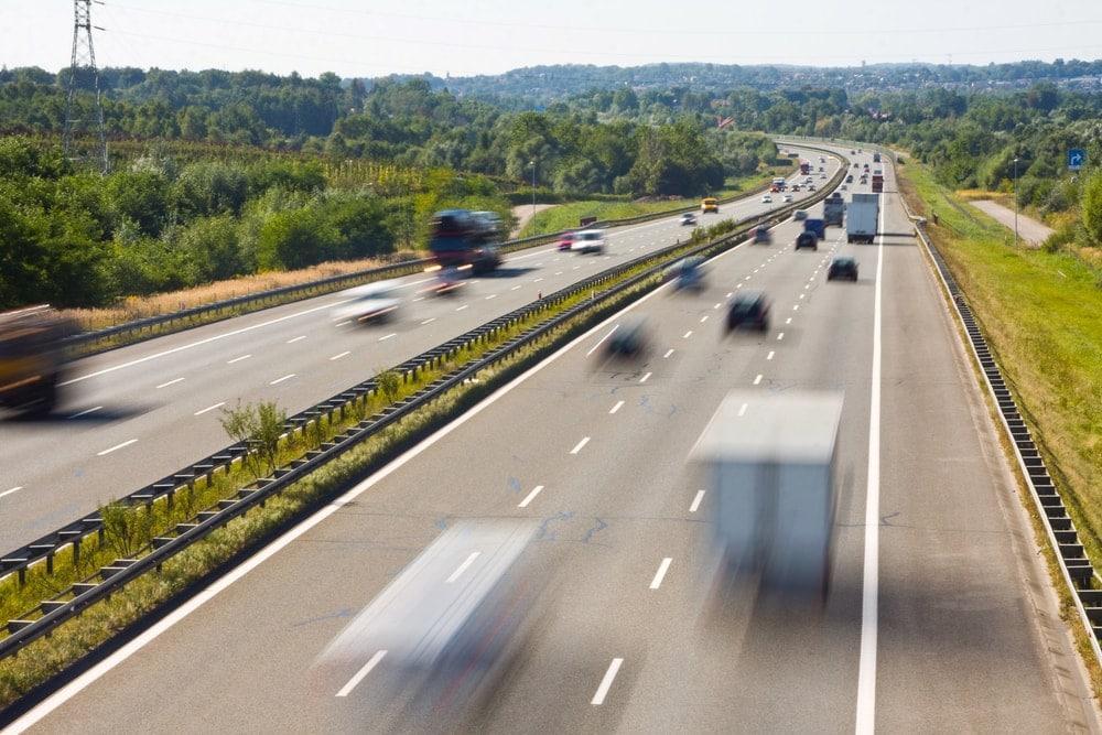 Toter Auf Autobahn