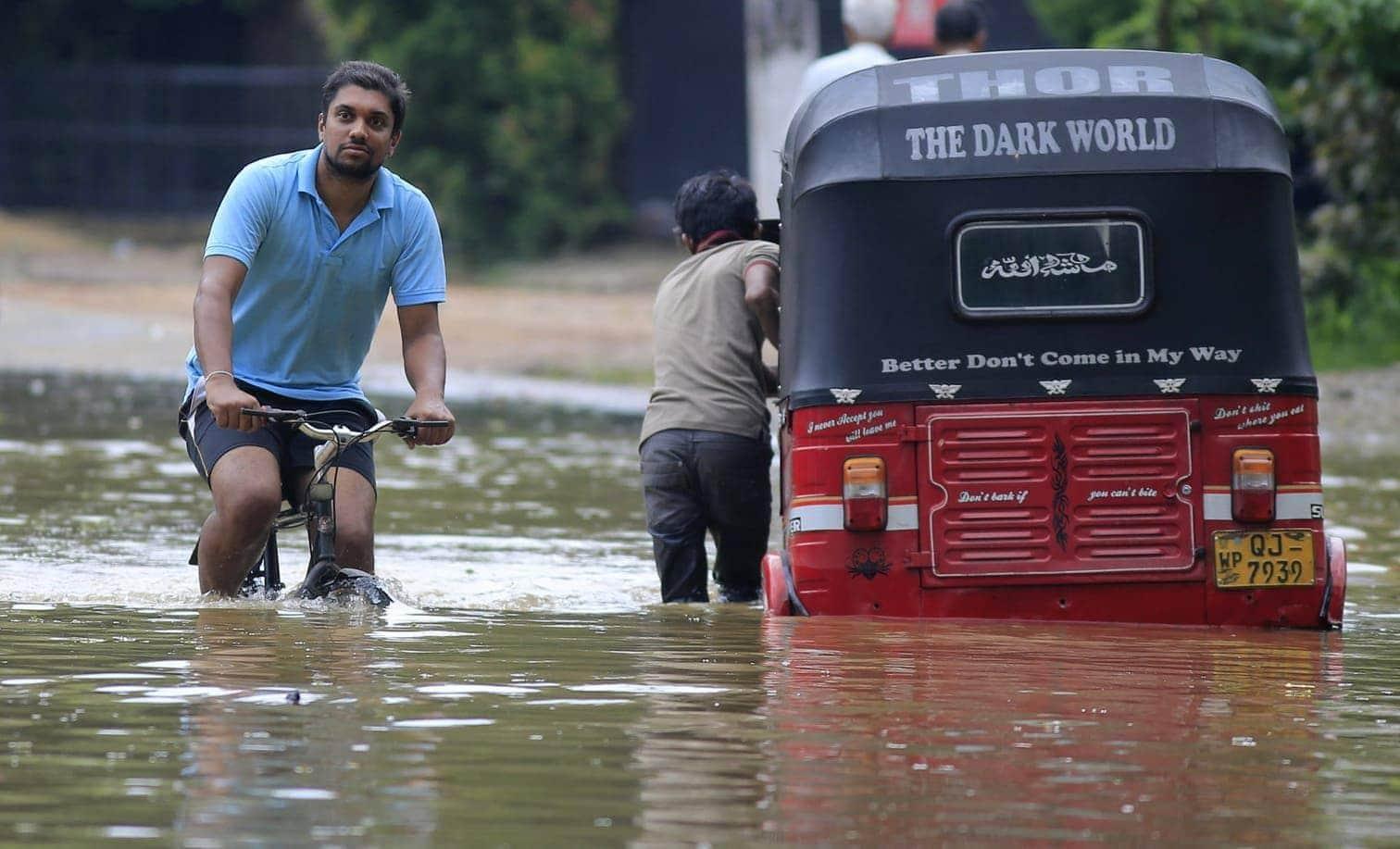 wie die sri-lankische Katastrophenschutzbehörde auf Anfrage mitteilte.</p> Foto: AFP