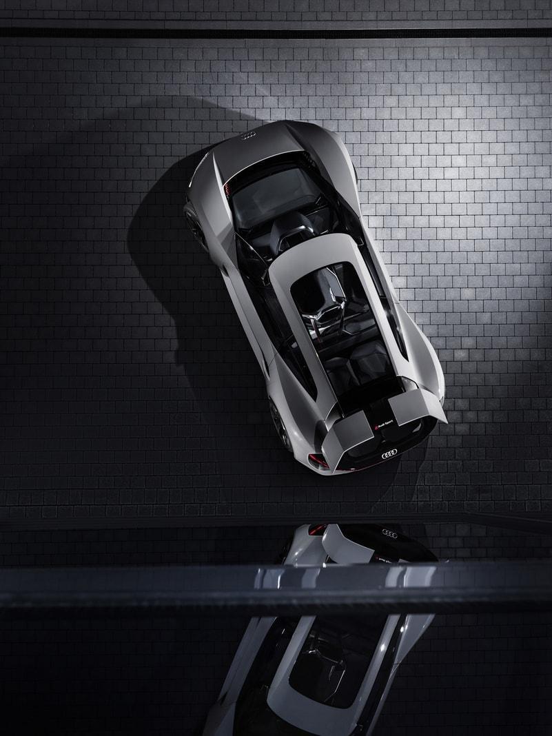 <p>Erst bei starkem Bremsen kommt die hydraulische Anlage laut Audi mit ins Spiel.</p> Foto: AUDI AG