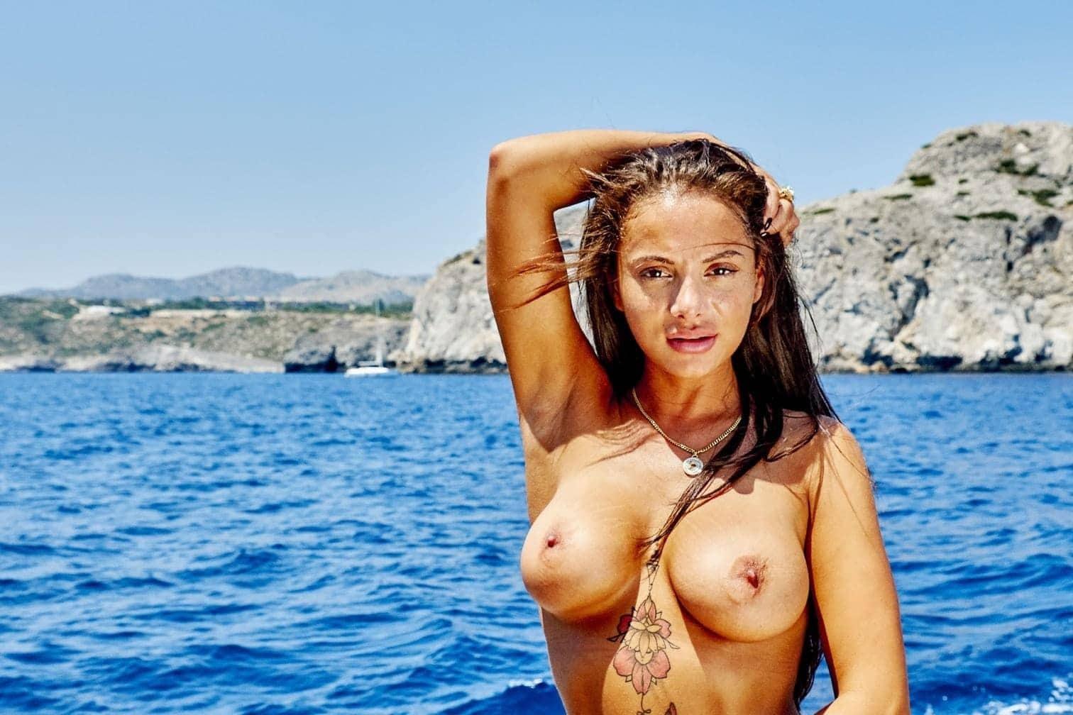 <p>Model und DSDS-Teilnehmerin Emilija Mihailova: