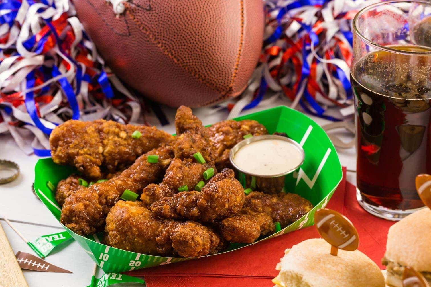 Chicken Wings beim Football