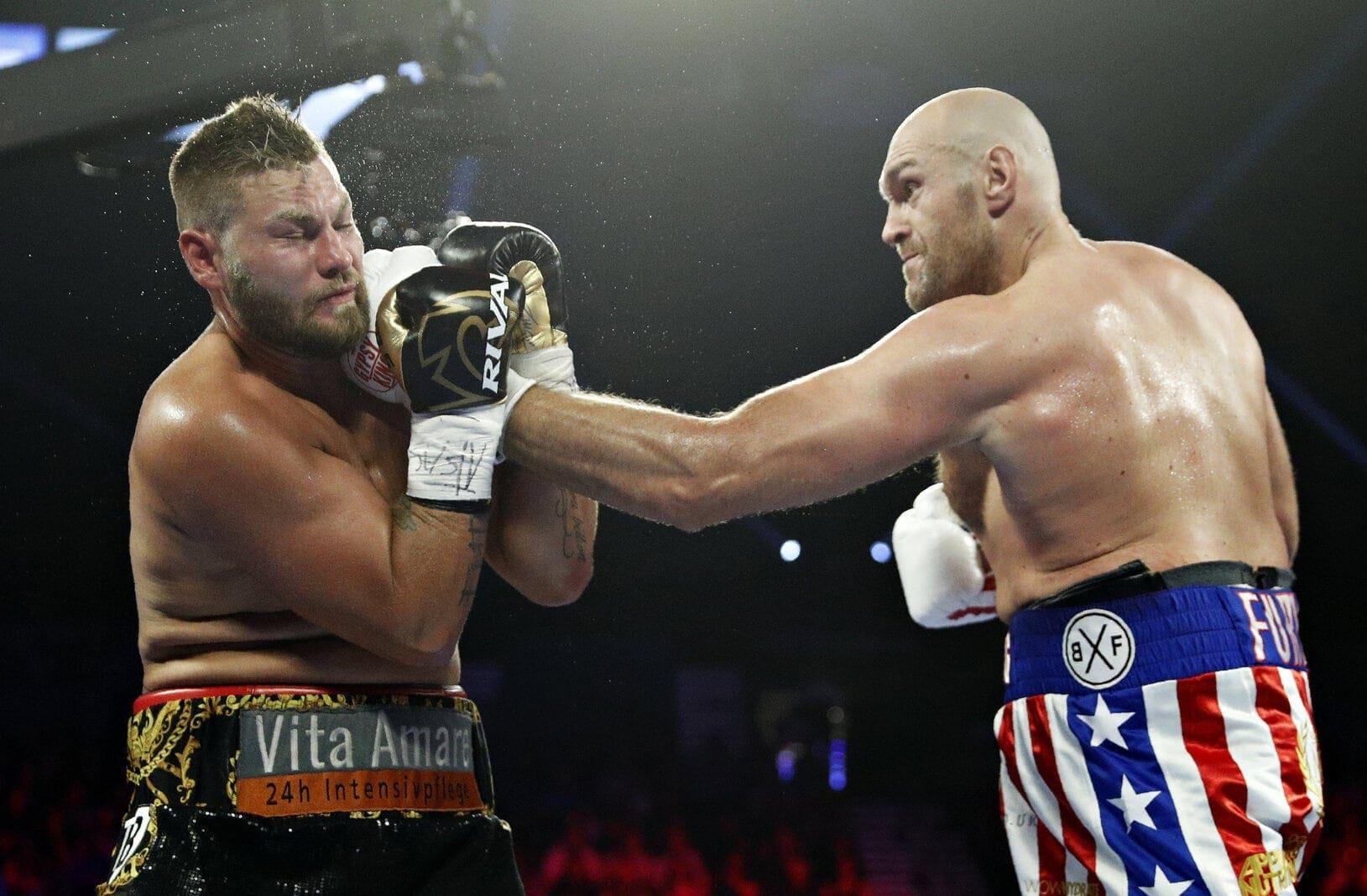 Die Mega-Box-Sensation ist ausgeblieben. Der Deutsche Tom Schwarz hat einen Sieg gegen den klaren Favoriten Tyson Fury in Las Vegas verpasst. Foto: John Locher/dpa