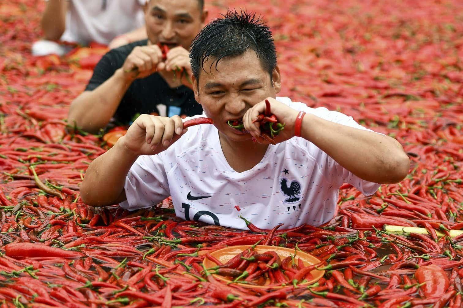 <p>Guten Appetit! Beim Chili-Festival im chinesischenNingxiang geht es heiß her.</p>