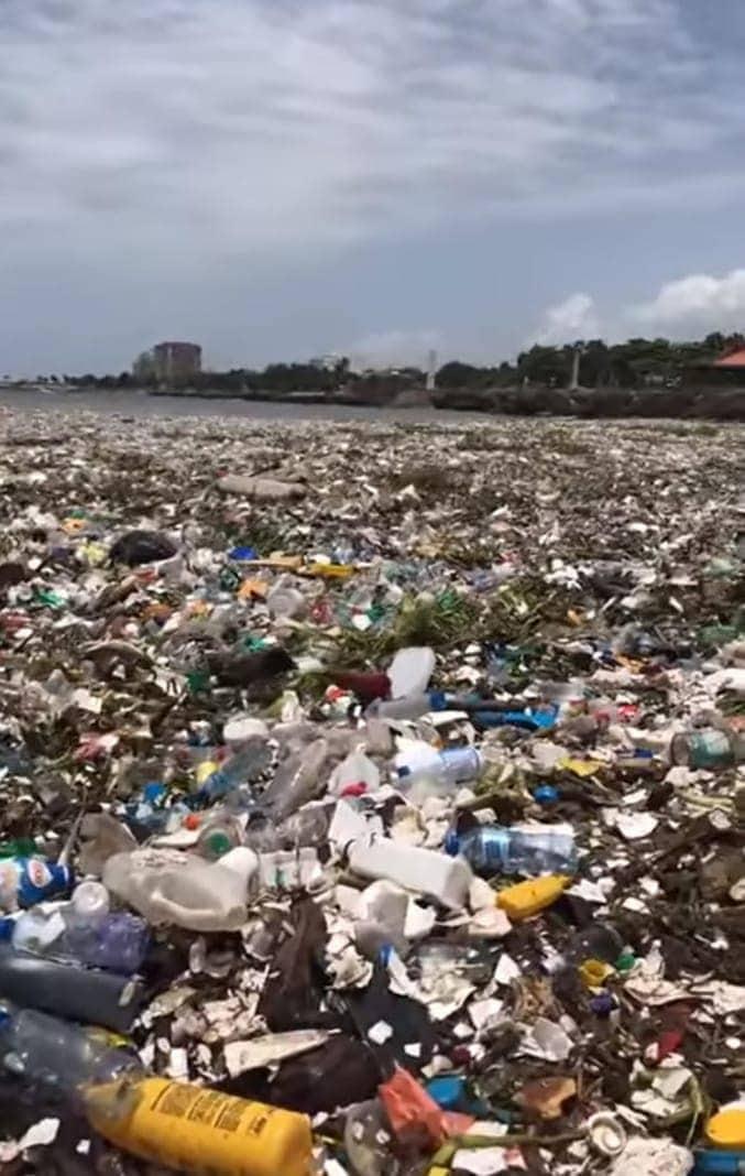 Müll strand dominikanische republik