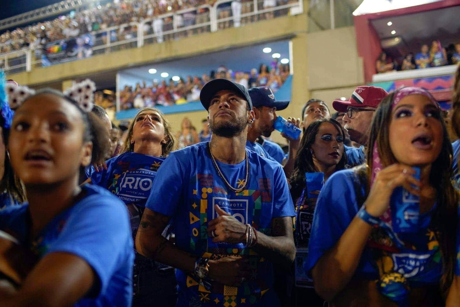 <p>Neymar genoss den Auftritt sichtlich.</p> Foto: Mauro Pimentel/dpa