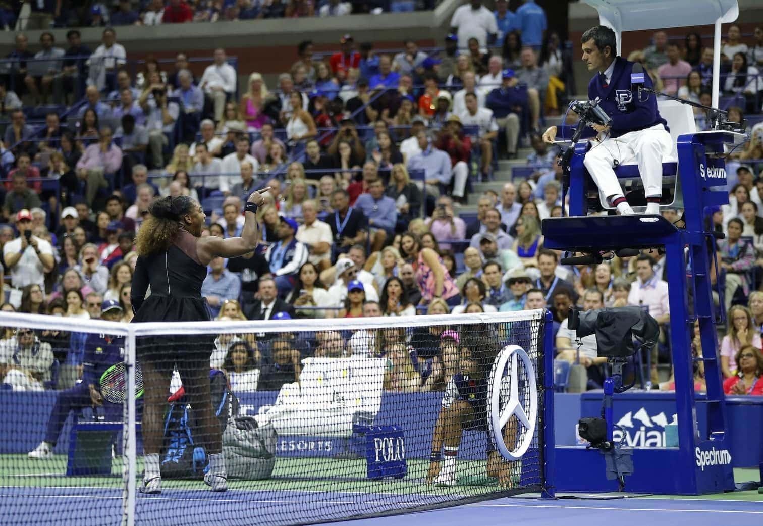 in dem die Altmeisterin für einen Skandal sorgt. Dem Schiedsrichter verweigert sie am Ende den Handschlag. Der größte Triumph von Osaka geht fast unter.</p> Foto: dpa