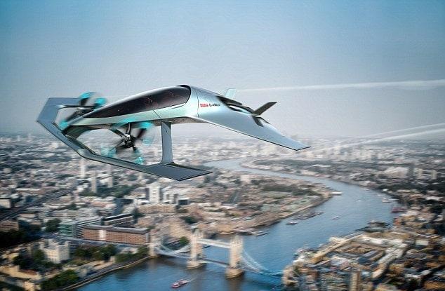 <p>Der Automobil-Hersteller Aston Martin hat ein Lufttaxi vorgestellt.</p> Foto: Hersteller