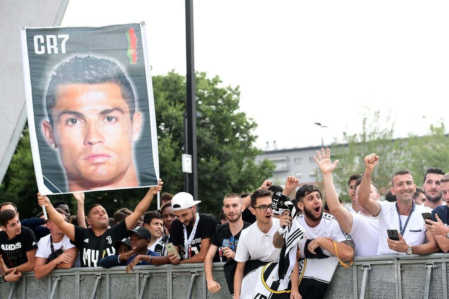 <p>Der portugiesische Superstar hat am Montag seinen Medizincheck beim italienischen Rekordmeister absolviert.</p> Foto: AFP