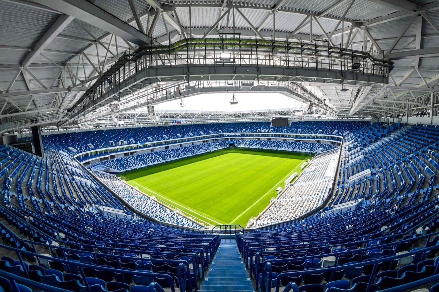 <p><strong>LUSCHNIKI-STADION:</strong> Es ist das Herz der WM. Die historische Fassade aus den 1950er Jahren ist erhalten geblieben