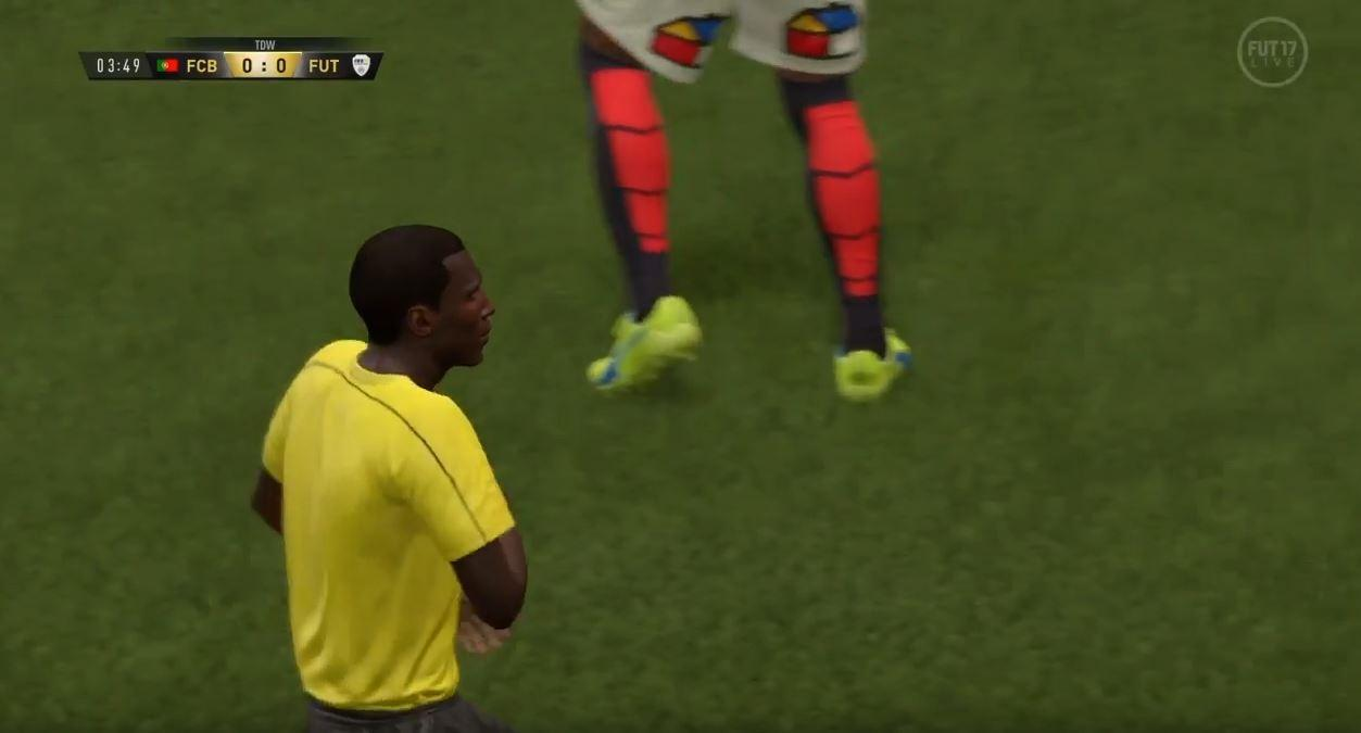 <p>Bereits in den vorangegangenen Fifa-Versionen machte der Unparteiische auf sich aufmerksam.</p> Foto: Screenshot Youtube