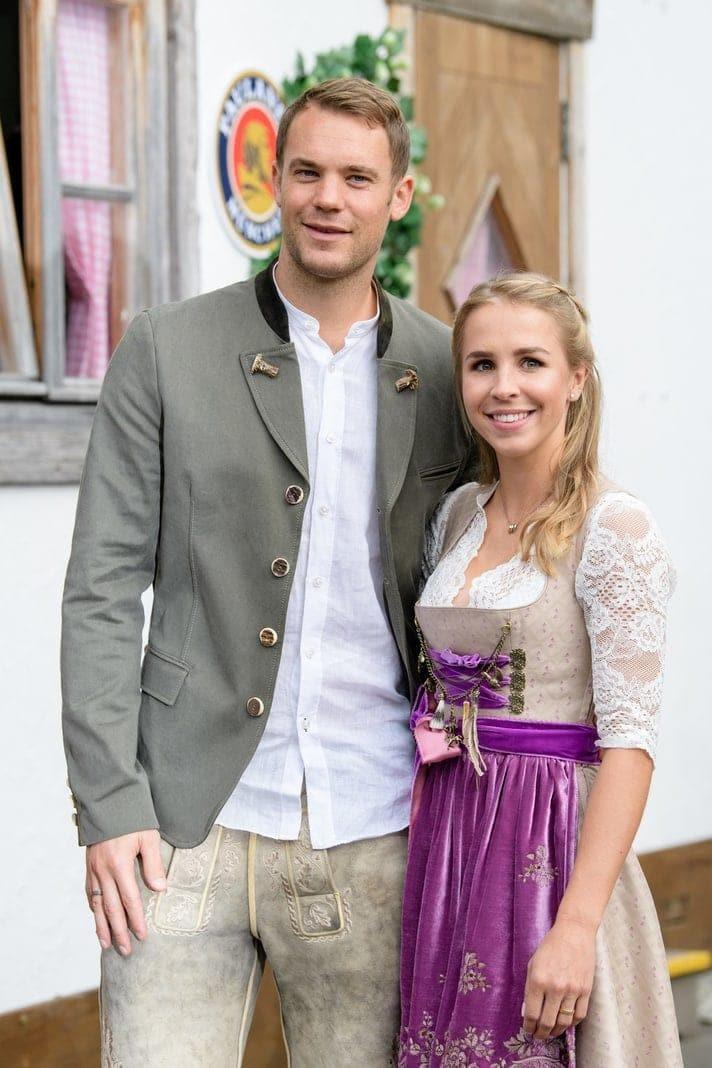 <p>Thiago und seine Frau Julia Vigas.</p> Foto: dpa/Matthias Balk