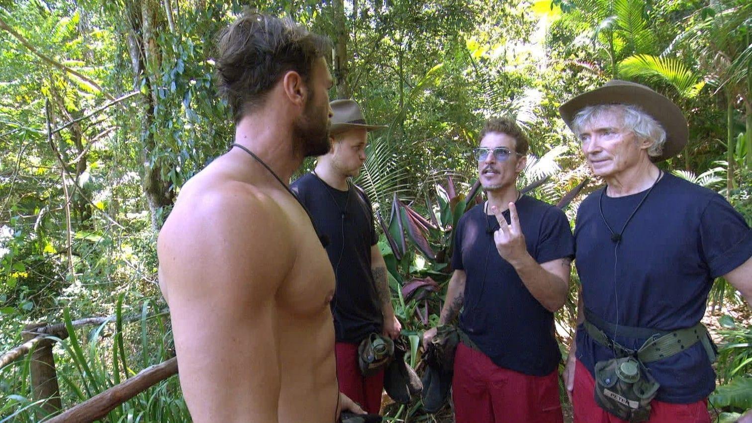 <p>Der Grund? Chris ist von der Team-Leistung und seiner eigenen Leistung bei der Dschungelprüfung alles andere als begeistert.</p> Foto: TV NOW