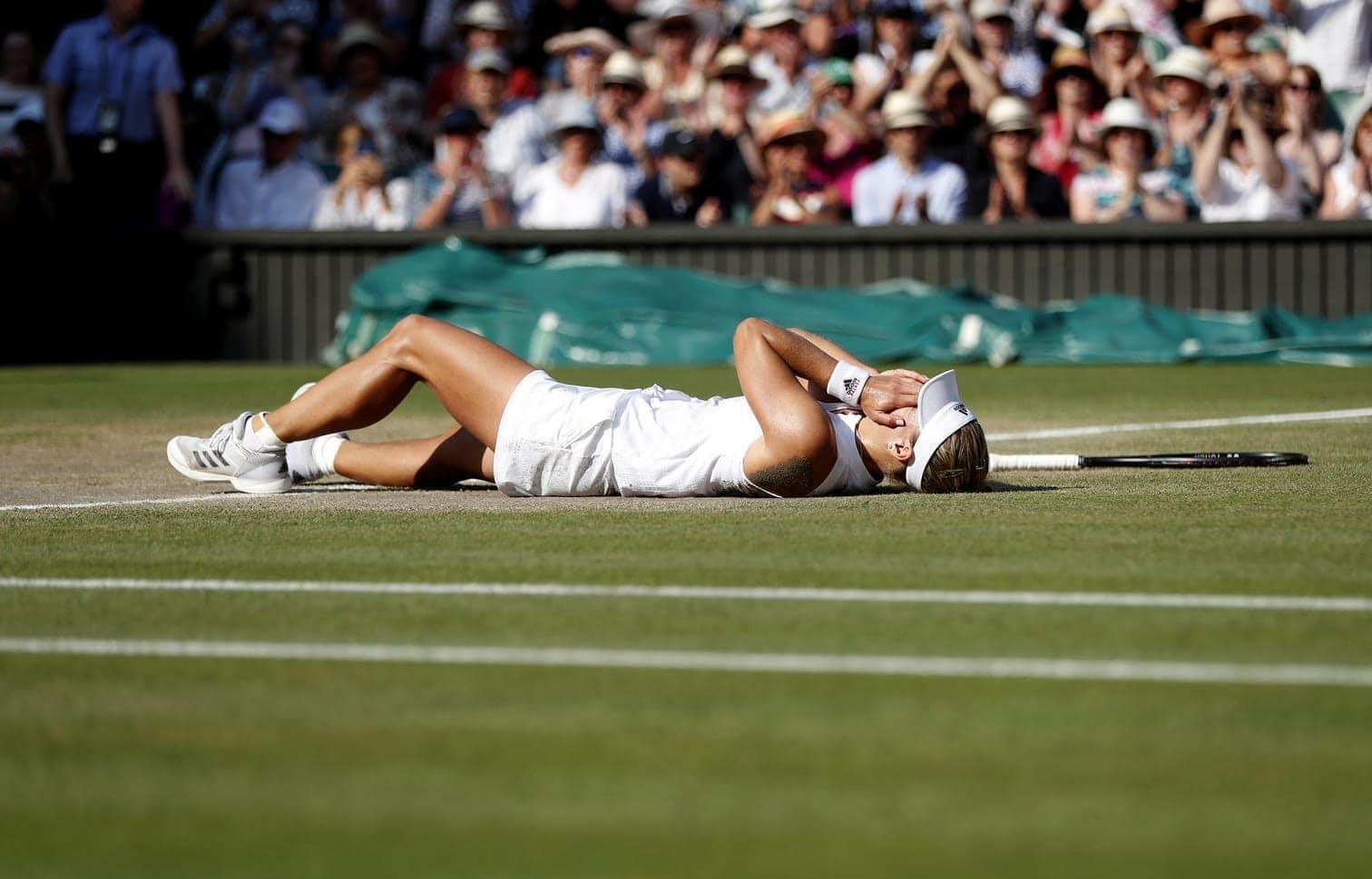<p>Weitere Bilder von Kerber in Wimbledon gibt es hier.</p> Foto: dpa