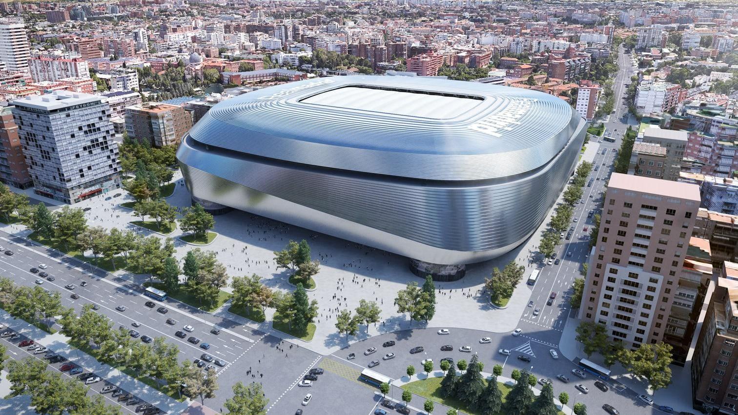 <p>Das große Projekt von Real Madrid: Der Umbau des Estadio Santiago Bernabeu.</p> Foto: Real Madrid C.F.