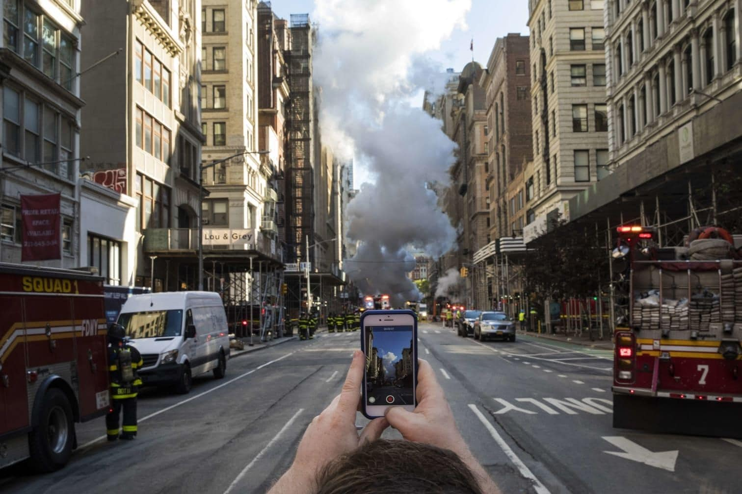 <p>Die Straßenkreuzung der Fifth Avenue
