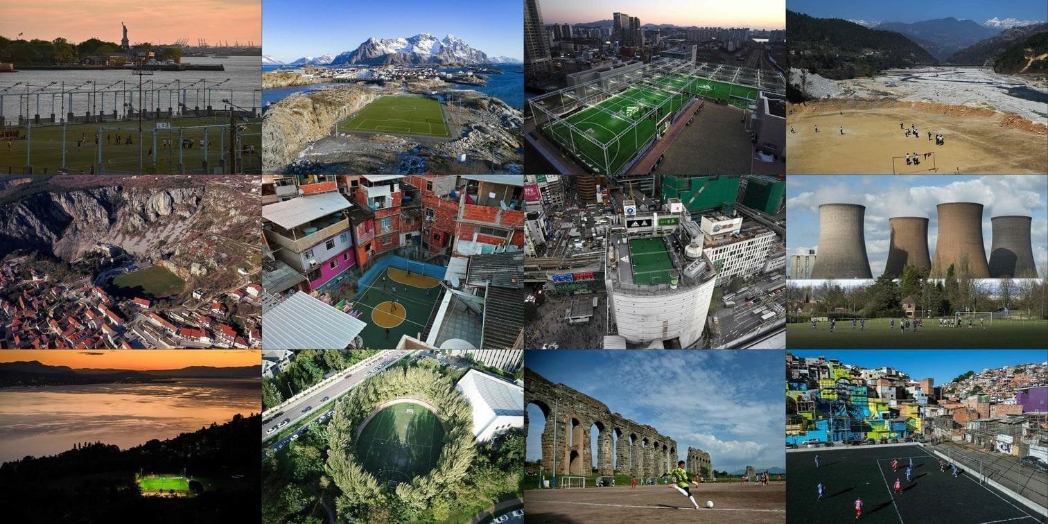 <p>Fußball ist ein einfaches Spiel. Der Austragungsort muss dabei nicht immer ein großes Stadion sein. Wir haben die skurrilsten und beeindruckendsten Fußballplätze der Welt zusammengetragen. Fernab riesiger Stadien und Arenen.</p> Foto: AFP