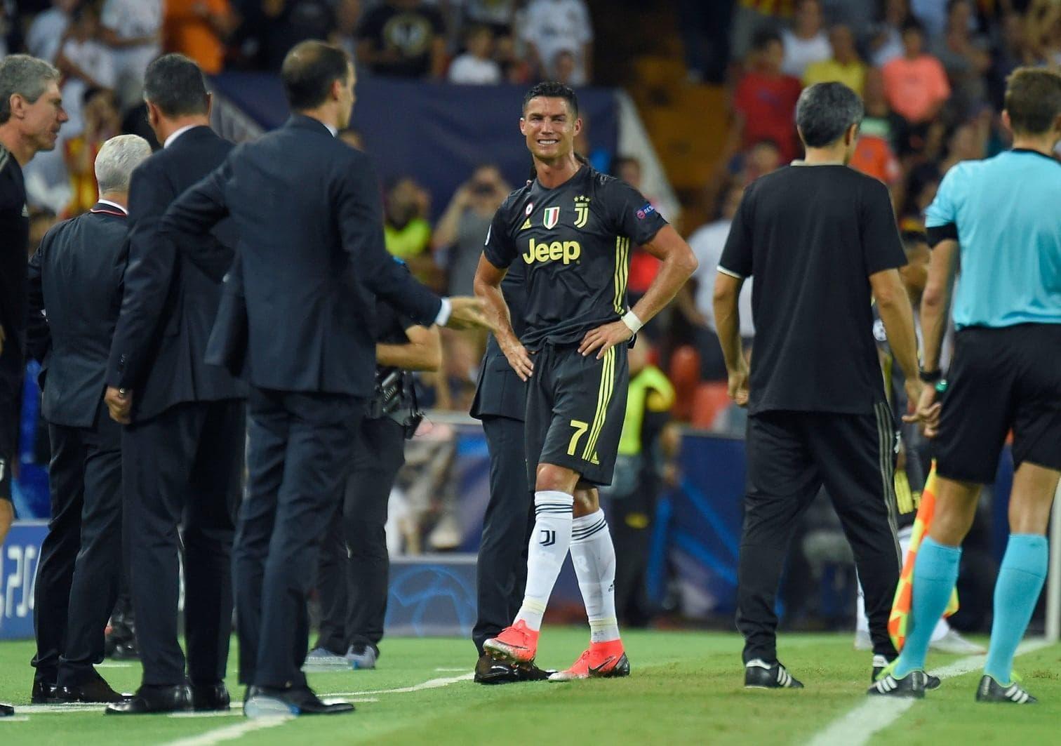 dass Ronaldo das Match gegen seinen ehemaligen Club Manchester United nächsten Monat verpasst.</p> Foto: AFP