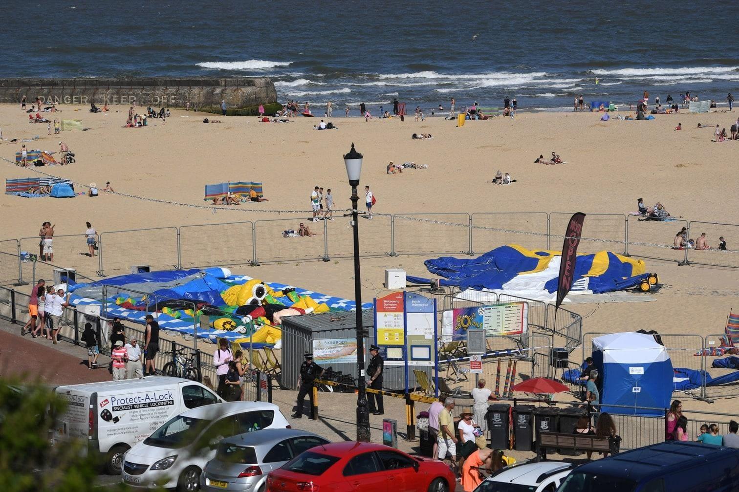 <p>Das Mädchen starb im Krankenhaus. Der Strand war wegen der Hitze sehr gut besucht.</p> Foto: dpa